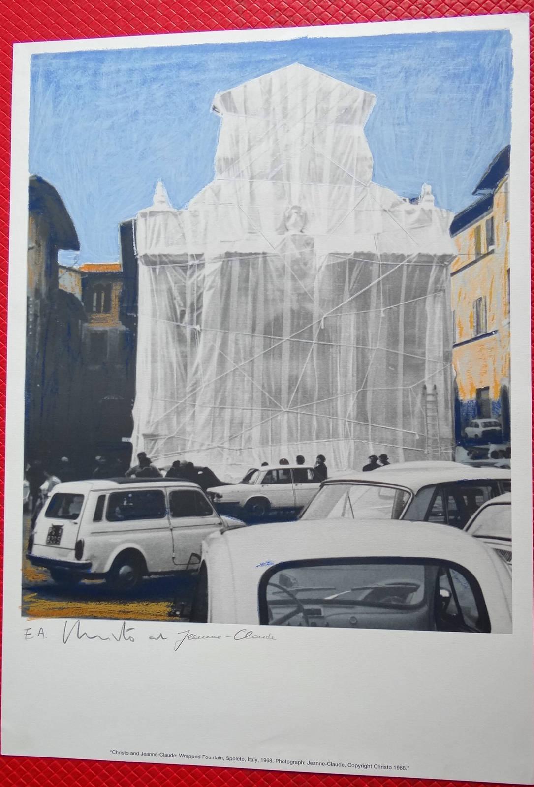 Christo Wrapped Fountain