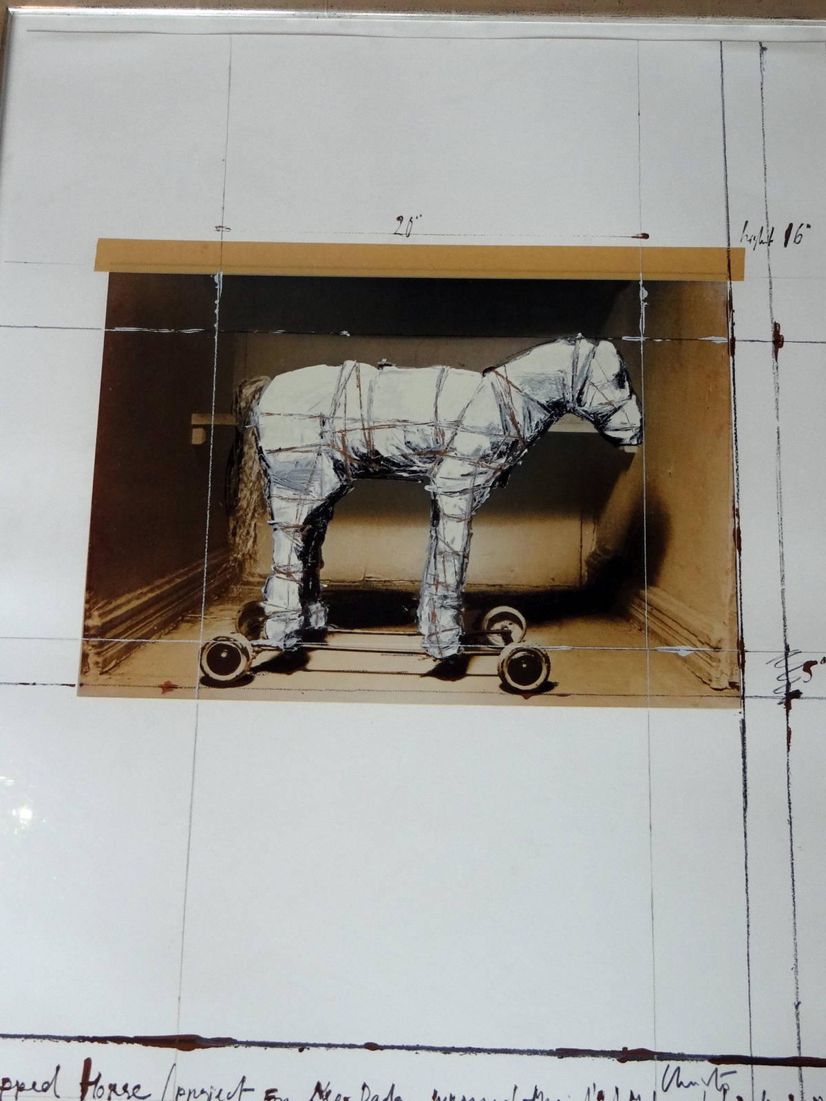 Christo Wrapped horse