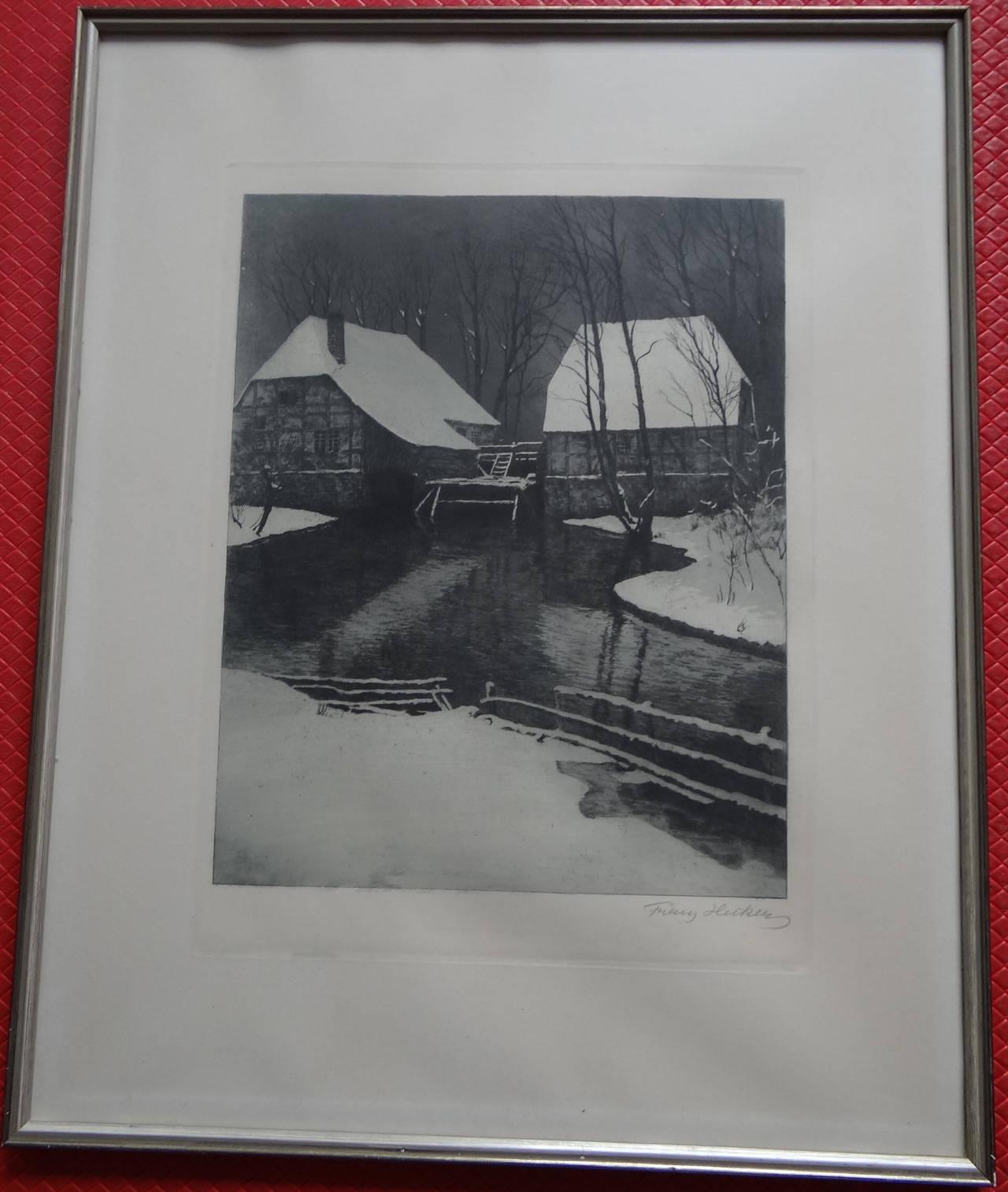 Franz Hecker Mühle im Schnee