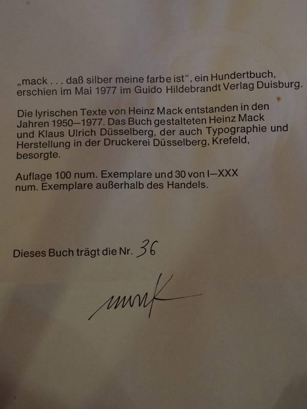 Heinz Mack ohne Titel