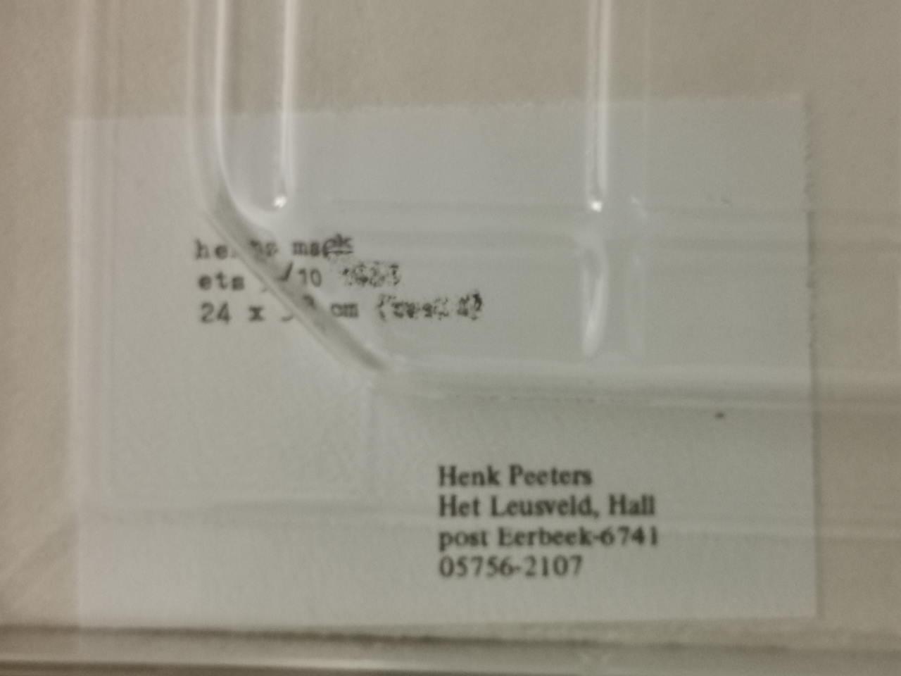 Heinz Mack Partitur Rückseite Detail